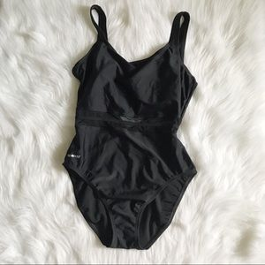 SPEEDO One Piece Cut Out Mesh Swimsuit SZ 12